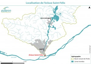 Localisation de l'écluse Saint-Félix